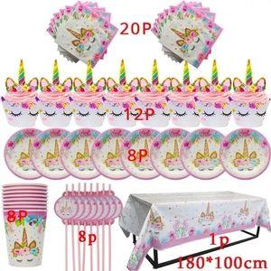 Unicorn disposable Party Decoration supplies